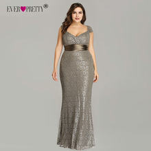 Plus Size Evening Dresses 2018 Ever Pretty EP08798CF Elegant Mermaid Lace  Sleeveless Party Gowns Vintage Sexy Robe De Soiree a4800088ab6e