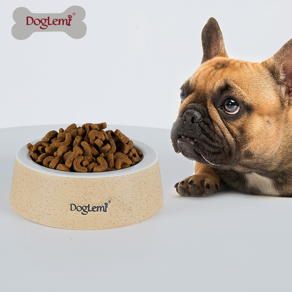 Natural Wind Bowl Puppy Grain Bowl Pure Green Ceramics Dog Food Thickening Sand Porcelain Cat And Dog Water Bowl image