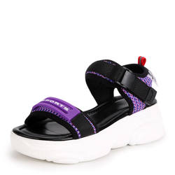 2019 летние женские босоножки на плоской подошве уличные модные римские сандалии женские вьетнамки пляжные сандалии женские сандалии 35-39