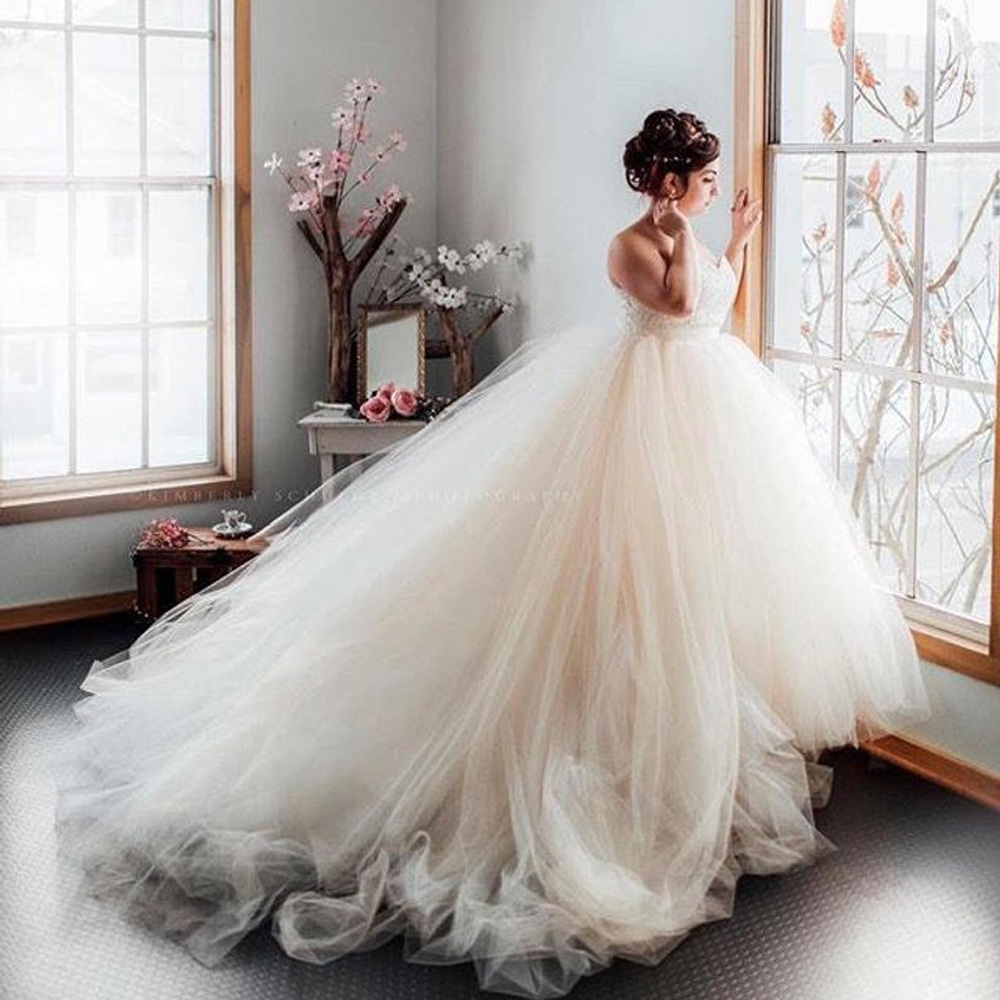 Fabulous Lush Bridal Tulle Skirts 2019 With Train Custom Made Pussy Tulle Skirts  Women Ruffles Elastic Tutu Ball Gowns To Party