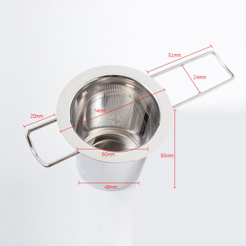 1 Pcs Practical Tea Ball Strainer Mesh Infuser Filter 304 Stainless Steel Herbal Filter Folding Handle Tea Strainer Tools