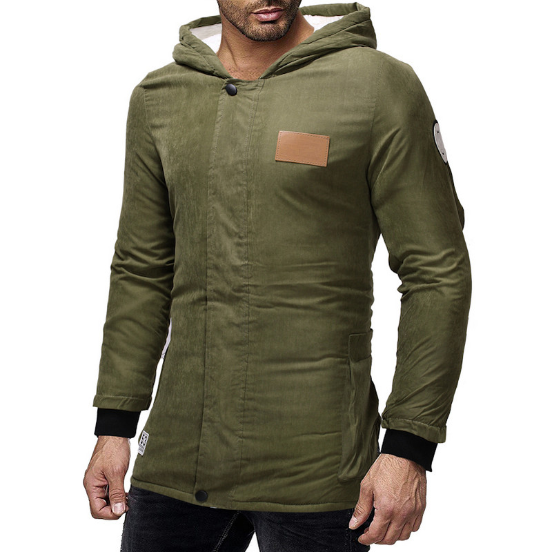 2018 Winter Jacket Males Hooded Slim Military Inexperienced Hombre Lengthy Jacket Coat Cashmere Mens Windbreaker Parkas Cotton Youth Clothes Jackets, Low cost Jackets, 2018 Winter Jacket Males Hooded Slim...