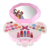 Disney Princess Makeup Set for Children Little Girls Cosmetic Kit Toy with Shell Case Box Portable Shell Bag Makeup Pretend Toy