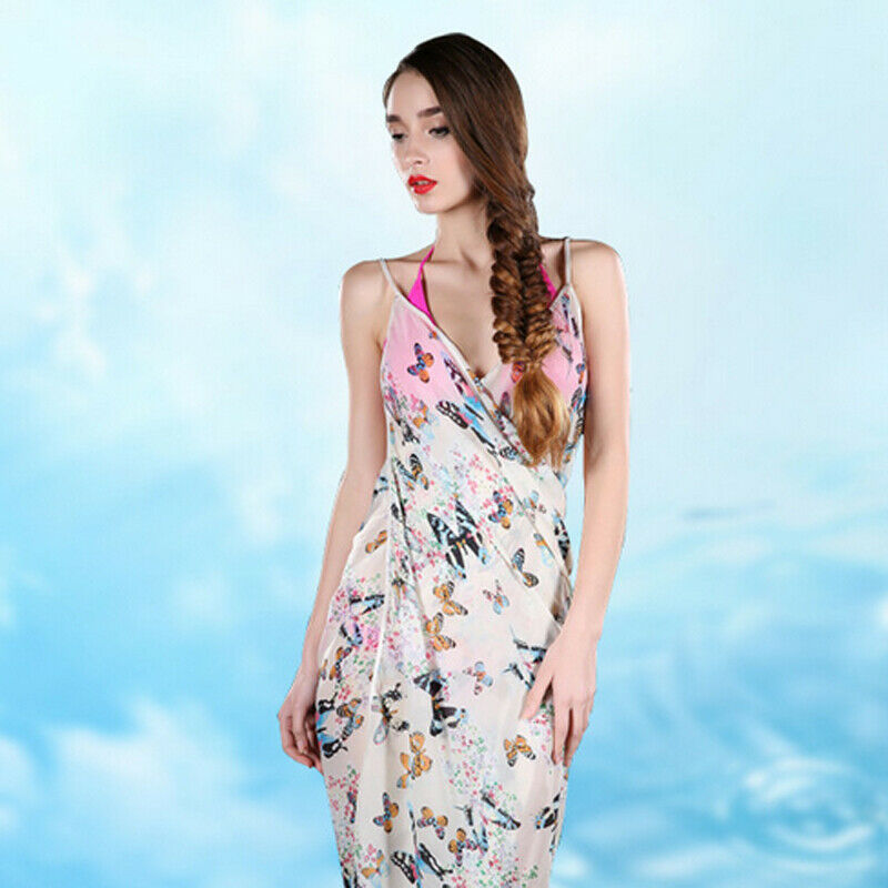 2019 Ladies Summer Sun Flower Sling Fashion Beach Skirt Breathable Sunscreen Shawl Beach Bikini Swimwear Cover Up Scarf Wrap