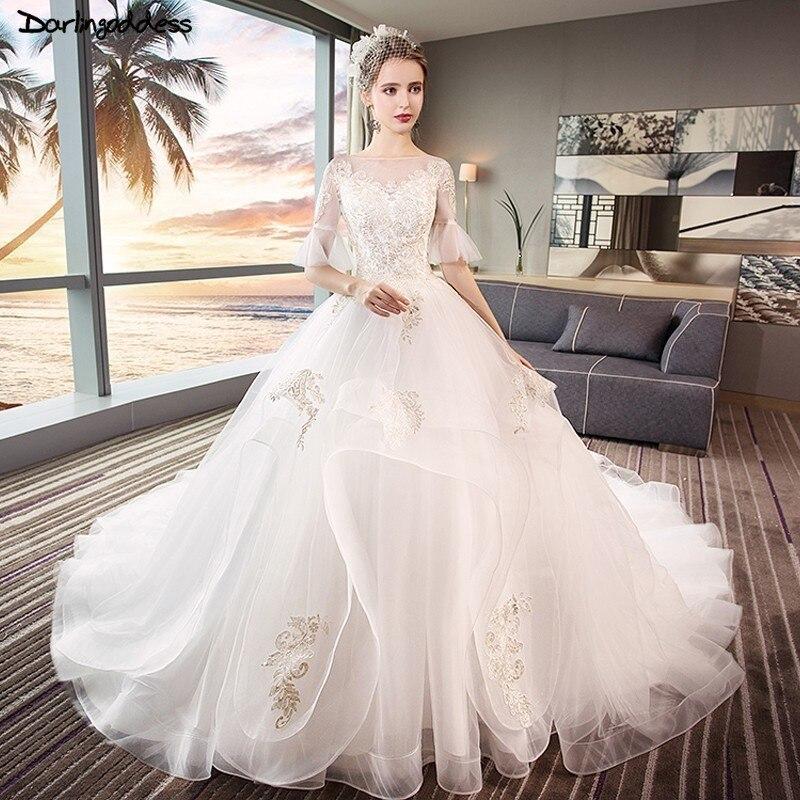 White Wedding Gown Gold