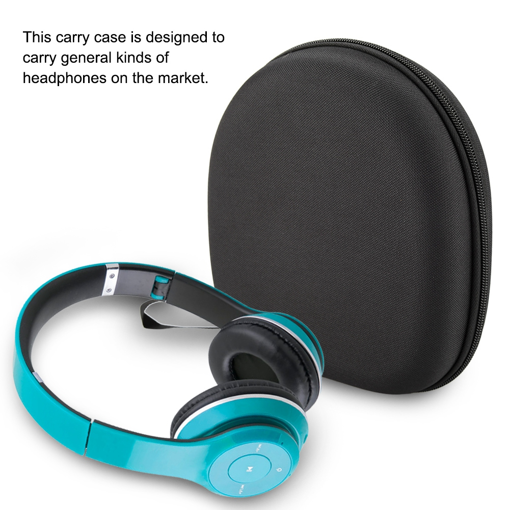 Hard Headphone Case Waterproof Headphone Headset Earphone Traveling Carrying Hard Bag