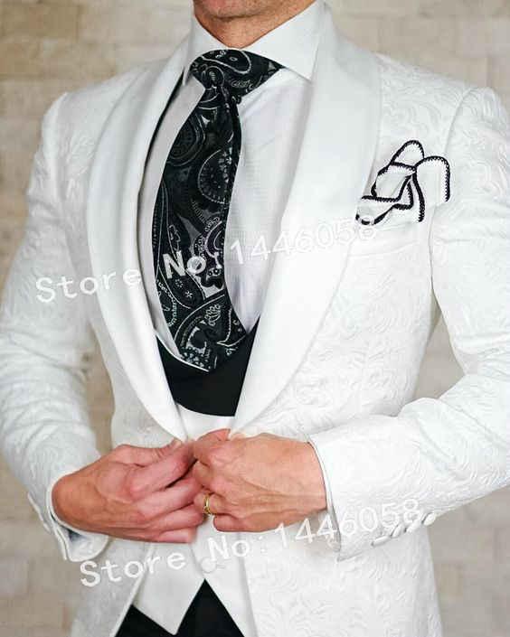 SZMANLIZI 結婚式のスーツ 2019 新デザイン正式な新郎の摩耗白ブレザースリムフィット花婿の付添人ベストマンメンズ結婚式のためにスーツタキシード