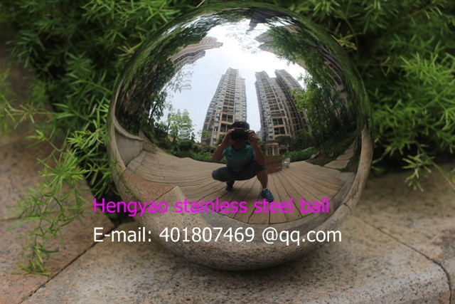 Gümüş Dia 200mm 20cm 304 paslanmayan polad içiboş top sorunsuz - Ev dekoru - Fotoqrafiya 4