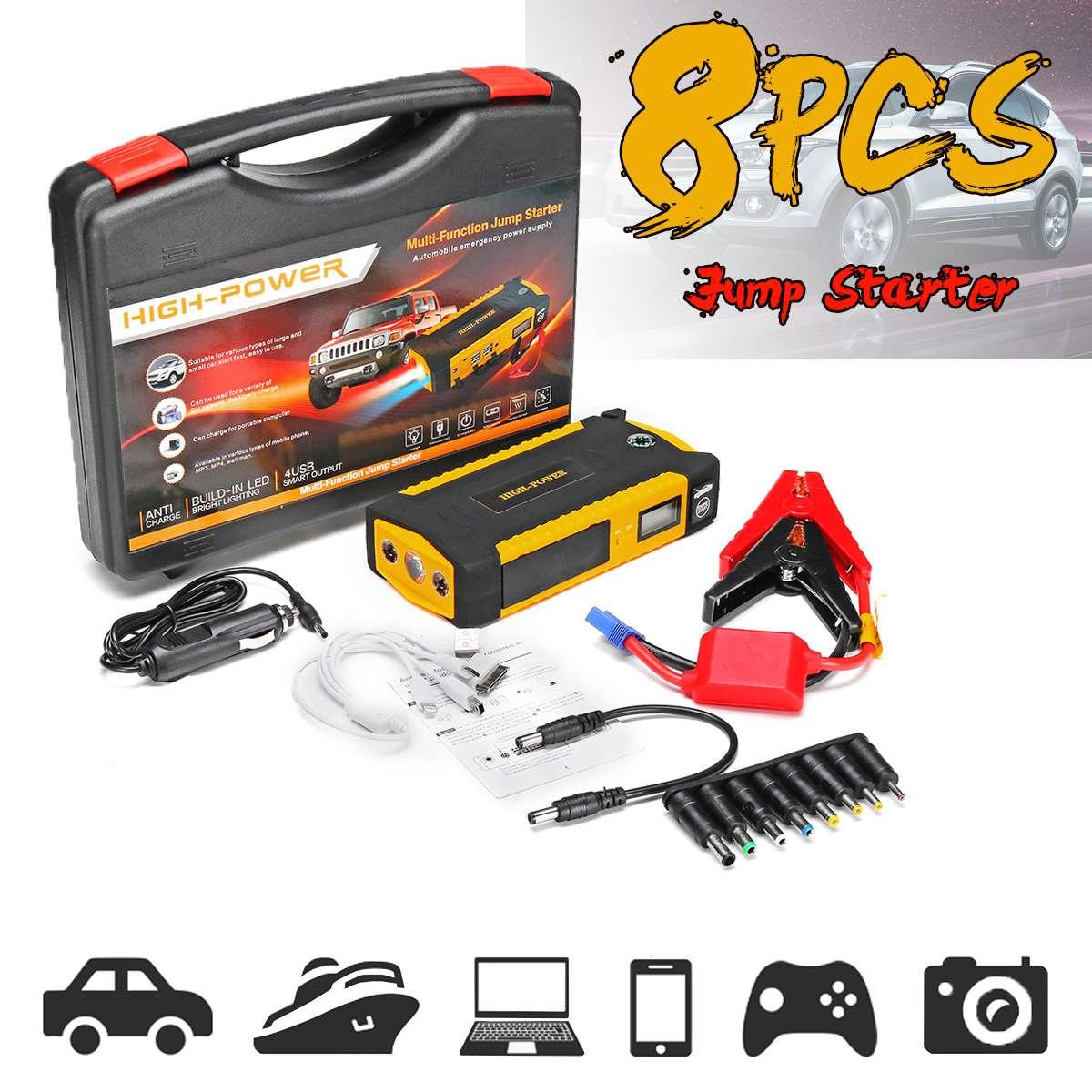 82800 mAh haute puissance voiture saut démarreur 12 V Portable démarrage dispositif batterie externe chargeur de voiture pour voiture batterie Booster Buster 4 USB