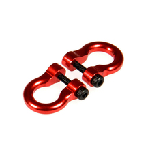 New Arrival 4pcs/set Alloy Metal Hooks Hitch Tow Shackles For 1/10 RC Crawler RC Parts Accessories new arrival screws box set for 1 10 rc car