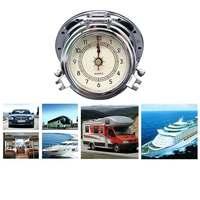 3pcs Roman Retro Quartz Clock+Thermo hygrometer(Humidity Meter)+Barometer Gauges Set for Caravan Motohome Yacht Dedicated