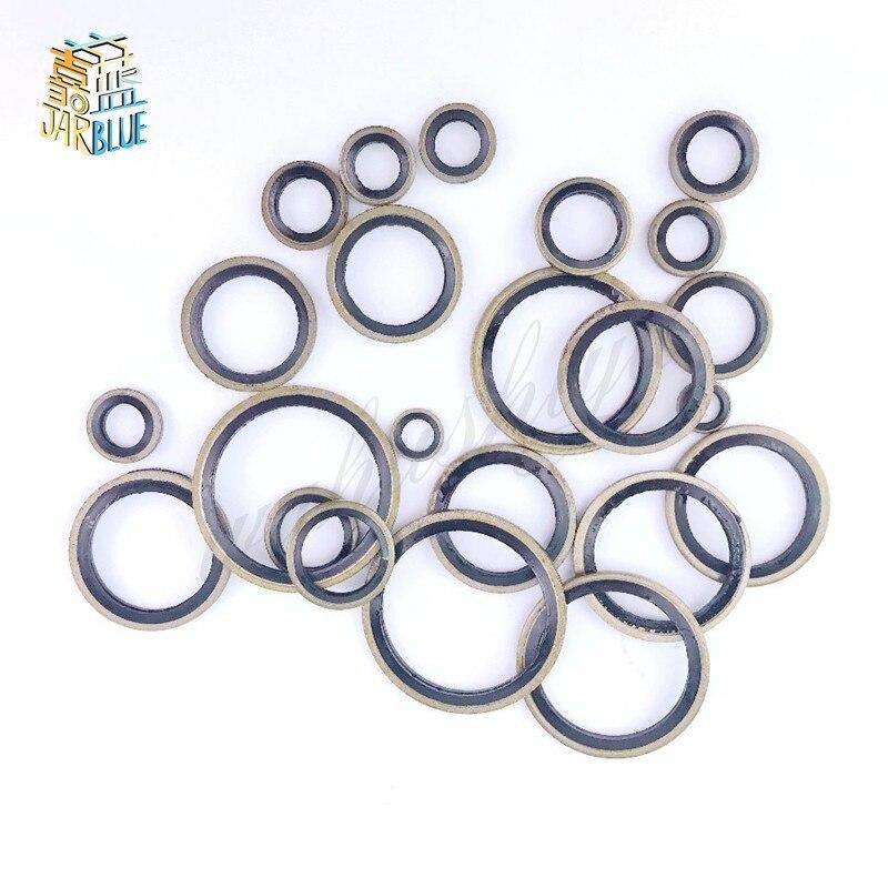 20/50Pcs M5 M6 M8 M10 M12 M14 M16  to M30 High Pressure Hydraulic Pipe Seal Pad Rubber Metal Shim Seal Gasket NBR Metal washer