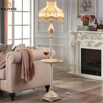 Nordic LED Standing Lamps Living Room Bedroom Modern Cloth Lampshade Floor  Lamp Home Decor Fixtures Bedside Standing Light Avize