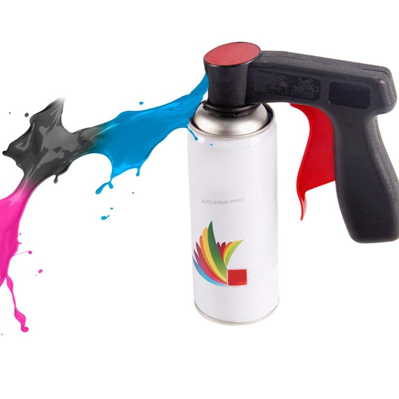 Auto Car Polishing Paint Care Aerosol Spray Gun Handle With Full Grip Trigger Colorful Wheel Printing Car Maintenance Tool Parts