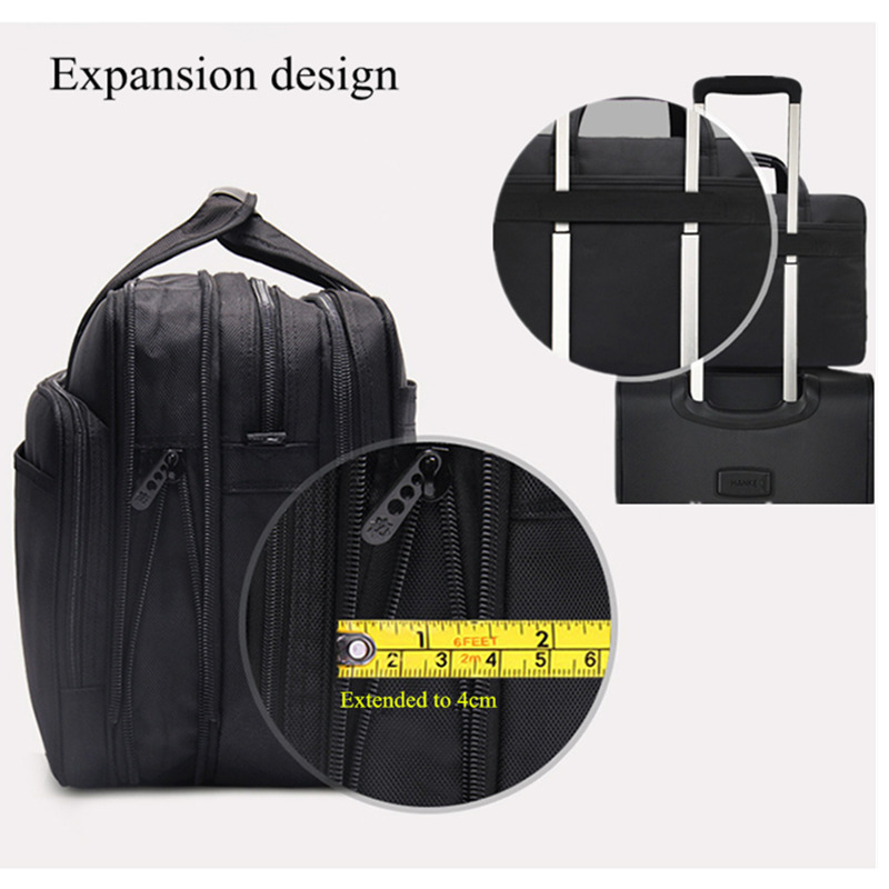 Image 5 - Large Capacity Business Men 17 Inches Briefcases Black Bags Men's Waterproof Computer Laptop Briefcase Male Travel Shoulder Bag-in Briefcases from Luggage & Bags