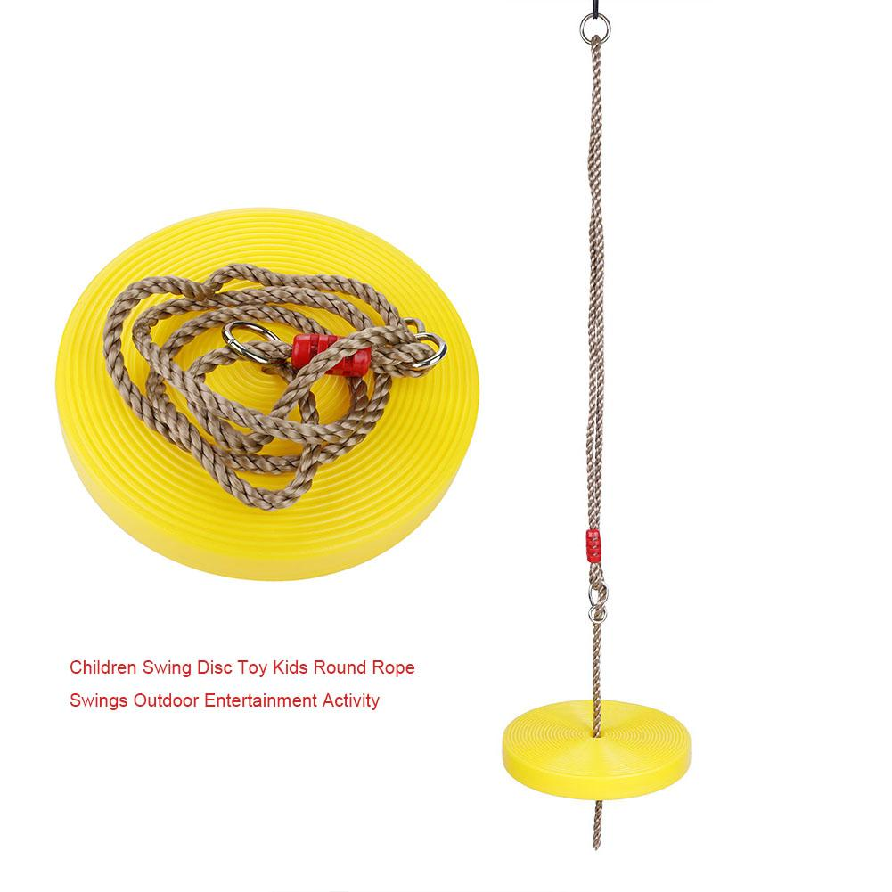 Toys & Hobbies Outdoor Fun & Sports Rctown Children Round Disc Swing Seat Height-adjustable Plastic Swing With Rope Set Random Color And Style Zk40