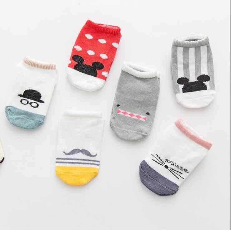 MAYA STEPAN Baby Floor Boy Girl Kid Children Smile Infant Cotton Anti Skid Slip Toddler Slipper Sock Striped Newborn Cheap Stuff