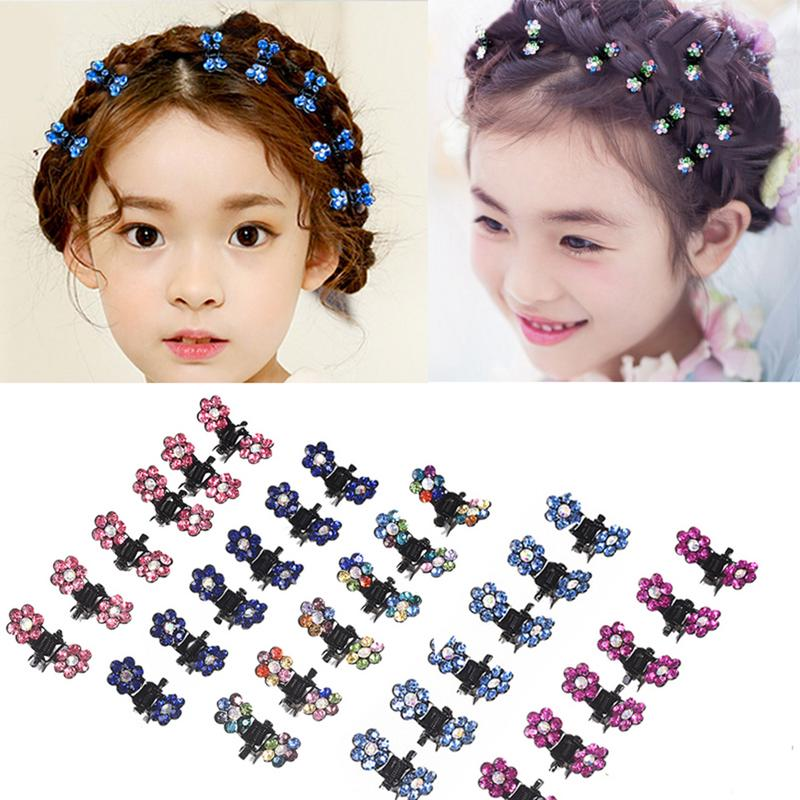 12pcs/pack Crystal Rhinestone Flower Hair Claw Hairpins Hair Accessories Hair Clips Hairgrip for Kids Girl12pcs/pack Crystal Rhinestone Flower Hair Claw Hairpins Hair Accessories Hair Clips Hairgrip for Kids Girl