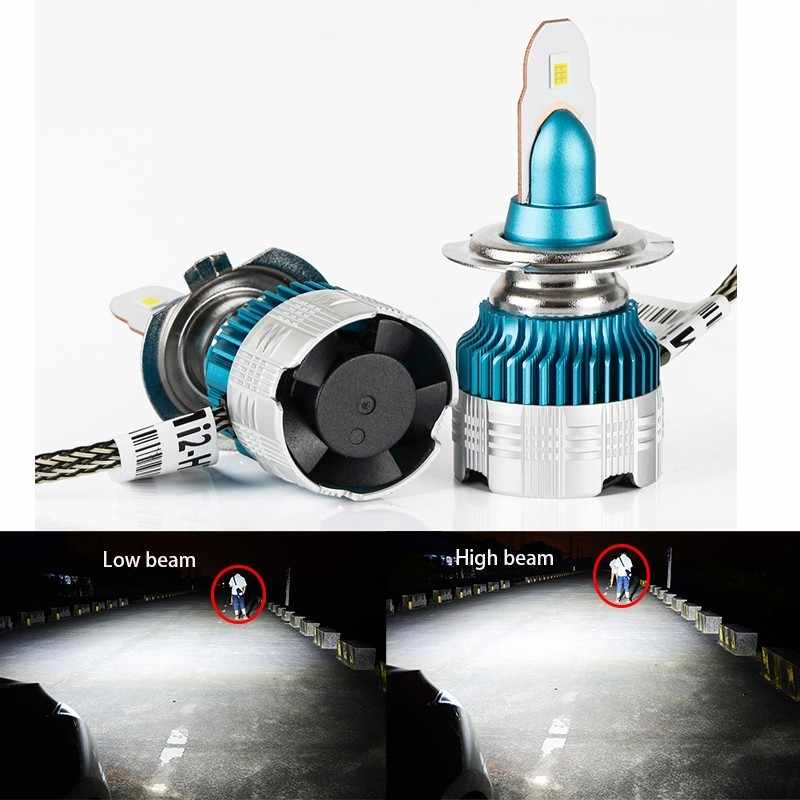 2X Super Bright 52 W/Set 6000lm/Set 6500K S1 All in one Mi2 LED Del Faro Auto 6000lm Lampadina H4 H7 H8 H11 H16 H1 H3