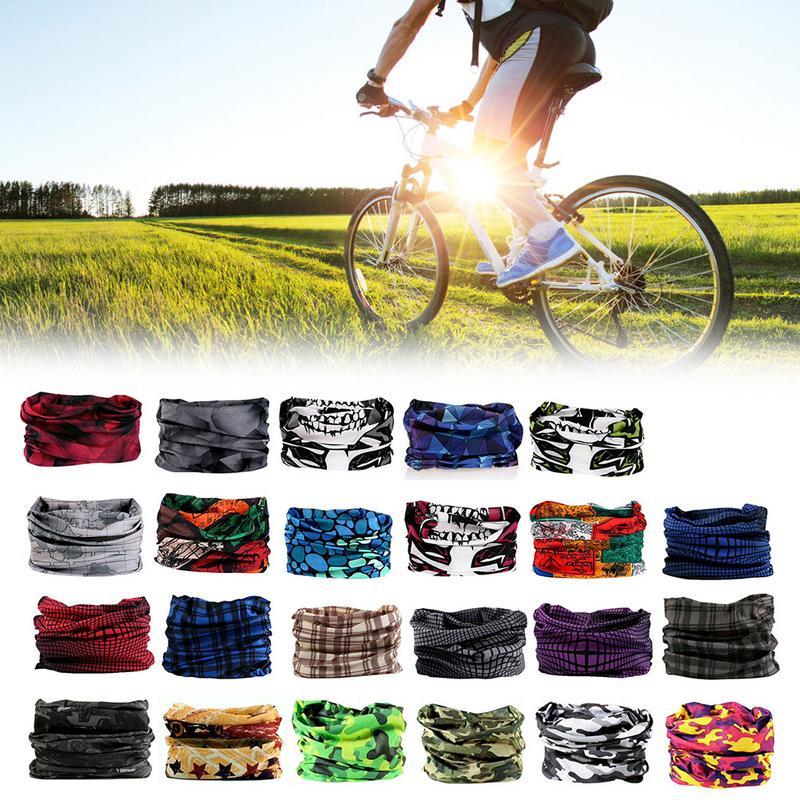 Men Outdoor High Cycling Seamless Neck Scarf Bike Sport Headband US Stock