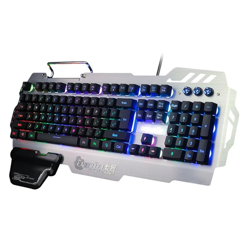 Wired Gaming Keyboard Mechanical Feeling Backlit Keyboards USBPhone Holder Game Keyboard For PC Laptop Desktop Russian US