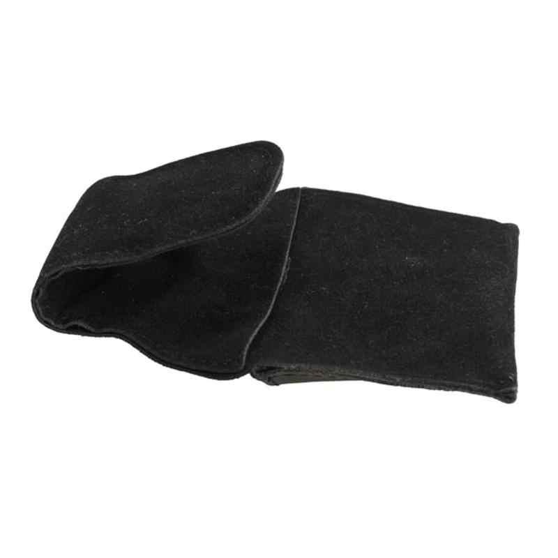 1 sztuk PU bilard skórzana podstawka na kredę czarny Faux etui z klipsem stół bilardowy Snooker Cue akcesoria bilardowe 9.5*5cm