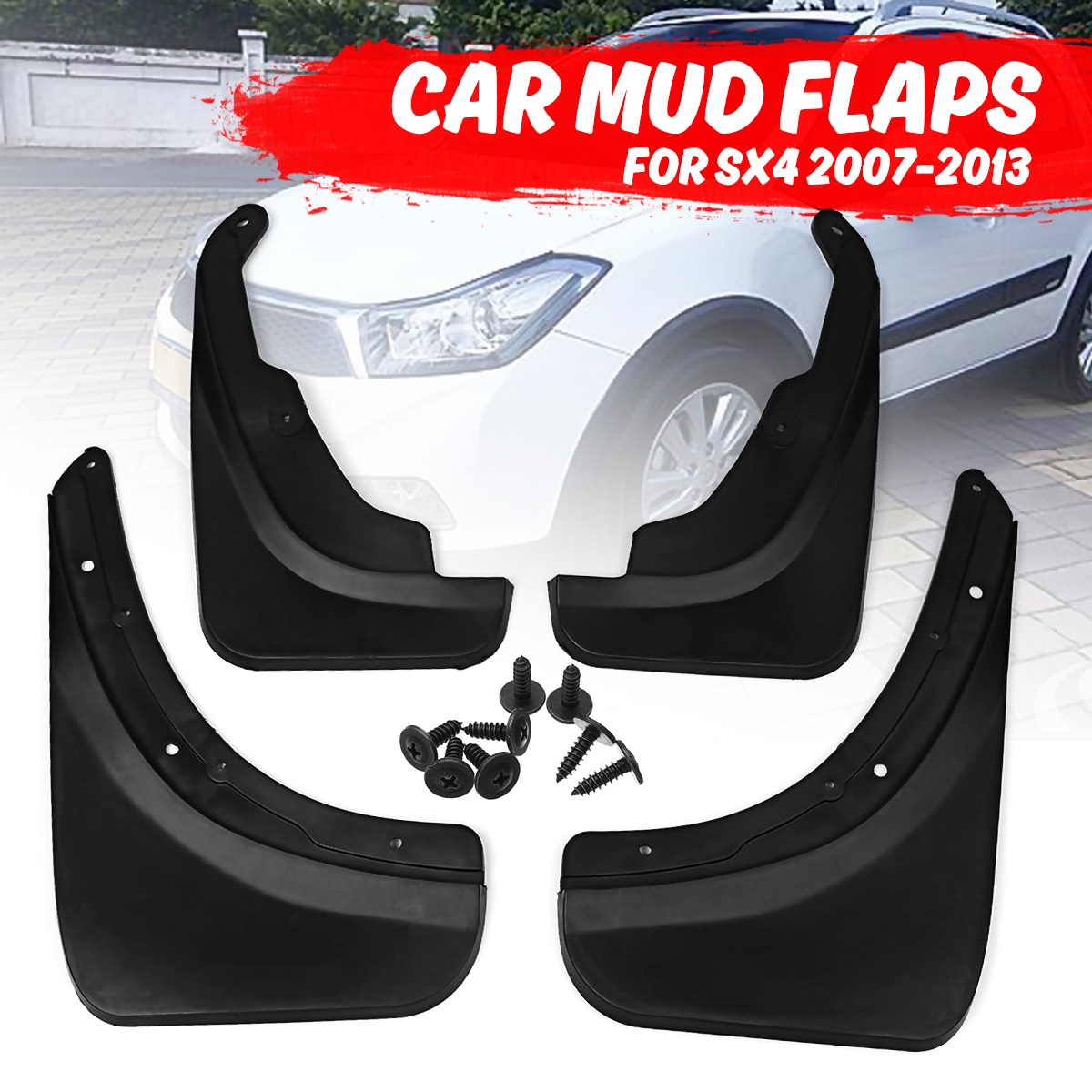4PCS Mud Flaps Splash Guards Fit For 2006-2009 SX4 Hatchback