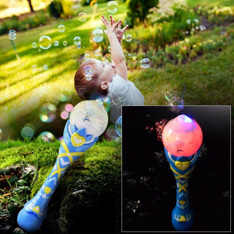 Волшебная палочка выдувная машина с пузырями электронный мигающий свет музыка