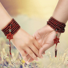 LNRRABC Sandalwood Buddhist Buddha Meditation Strand Prayer Bead Mala Bracelet Necklace Lucky Bracelet Couple Gift Bracelet