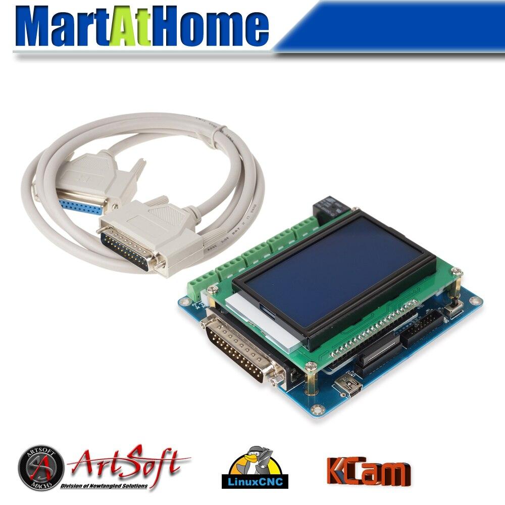 Siroter libre Intelligent 5 Axe CNC Sfe Interface w/LCD Numérique Support D'affichage Mach3/EMC2/KCAM4 # SM613 @ FC