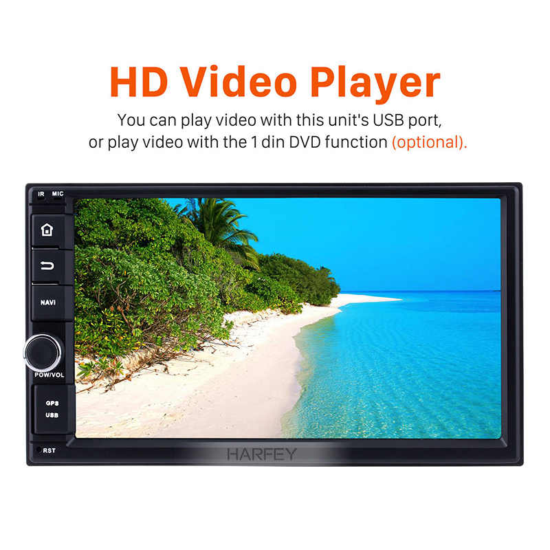 "7 Harfey ""Android 9.0 HD Touchscreen 2 Din Car Multimedia Player Rádio sistema de Navegação GPS para NISSAN Universal TOYOTA KIA"