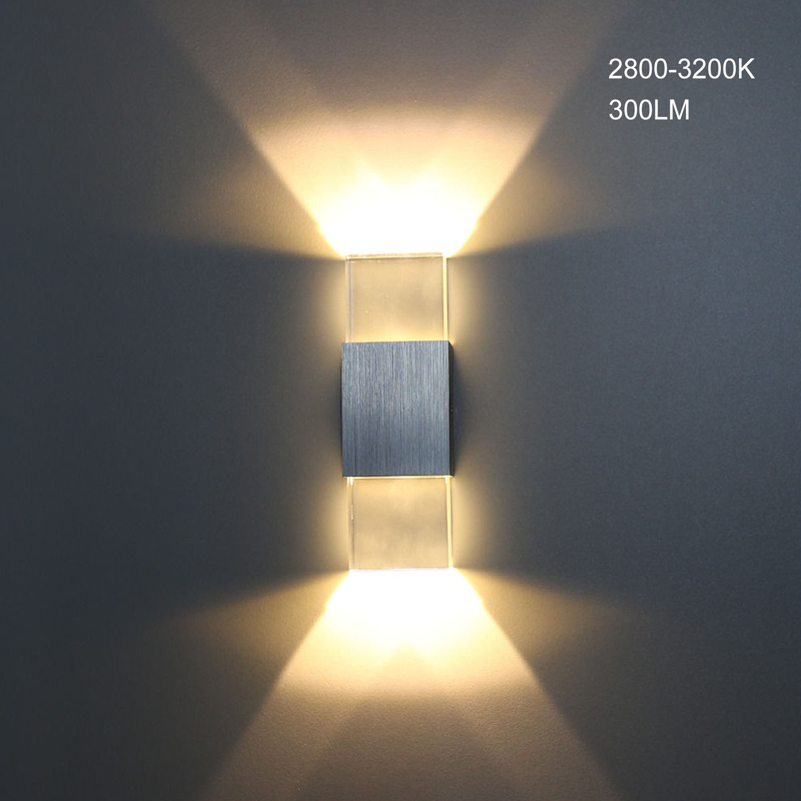 Licht & Beleuchtung Gastfreundlich 6 W Moderne Platz Aluminium Cob Led Wand Lampe Licht Acryl Kristall Ac110 220 V Hause Beleuchtung Indoor Outdoor Dekoration