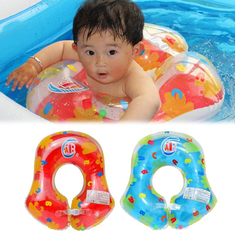 Baby Swimming Ring Inflatable Cartoon Infant Thicken Pool Armpit Floating Inflatable Pool Float Circle For Kids