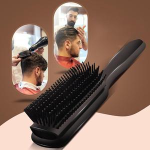 XY Fancy Мужская щетка для волос, щетка с подушкой, Антистатическая, 9 рядов, пластиковая щетка для волос, влажная щетка для салона, инструмент дл...
