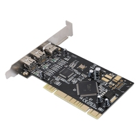 PCI Video Capture Card 3 Port Firewire 800 1394 b/a (2B1A) Video Capture Cards 800mbps Controller Card Adapter