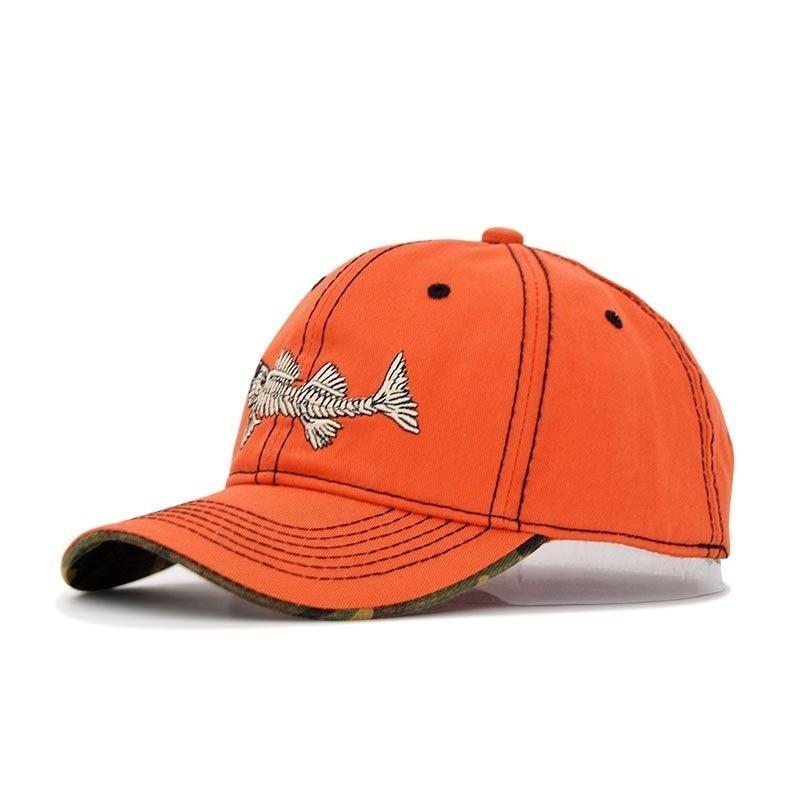 2019 Marke Stickerei Logo Fisch Baseball Caps Männer Fisch Knochen Kappe Einstellbar Cowboy Hut Frau Hip Hop Sport Hüte Reise Sonne Kappen