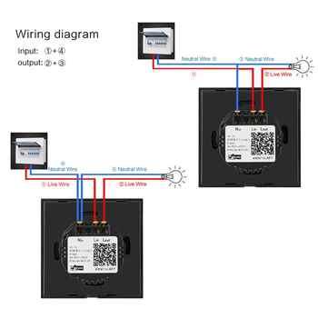 Sonoff Touch Wi-Fi Switch 1 Gang 1 Way Wireless Intelligence Wall