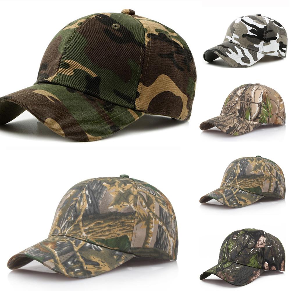 2019 Summer Jungle Leaves Camouflage   Baseball     Caps   Sports Outdoor Sunscreen Quick-Drying   Caps   Women Men's Adjustable Hats
