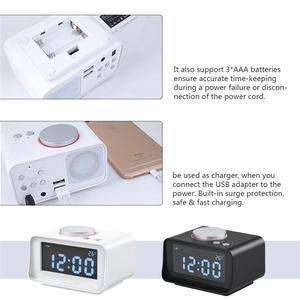 Image 3 - スマートデジタルアラーム時計多機能fmラジオアラーム時計デュアルusb aux機能に接続MP3 MP4 pda (eu/米国のプラグイン)