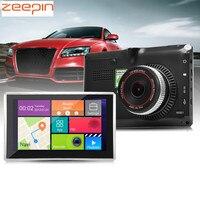 Zeepin Android Автомобильный gps навигатор 5 дюймов 170 градусов широкоугольный 1080 P WiFi Автомобильный видеорегистратор мультимедийный плеер fm-переда...