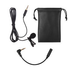 Lavalier Lapel Omnidirectional Clip on Microphone for iPhone Smartphone Tablet Laptop Cameras DSLR for Video Recording Interview