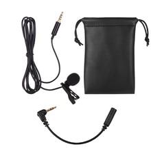 Lavalier Revers Omnidirektionale Clip on Mikrofon für iPhone Smartphone Tablet Laptop Kameras DSLR für Video Aufnahme Interview