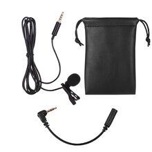 Нагрудный всенаправленный микрофон Lavalier с клипсой для iPhone смартфонов планшетов ноутбуков камер DSLR для видеозаписи интервью