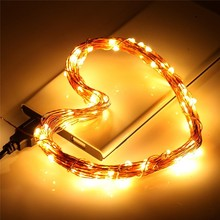 5M 10M LED Copper Wire Light USB Waterproof String Holiday Lighting Lamp