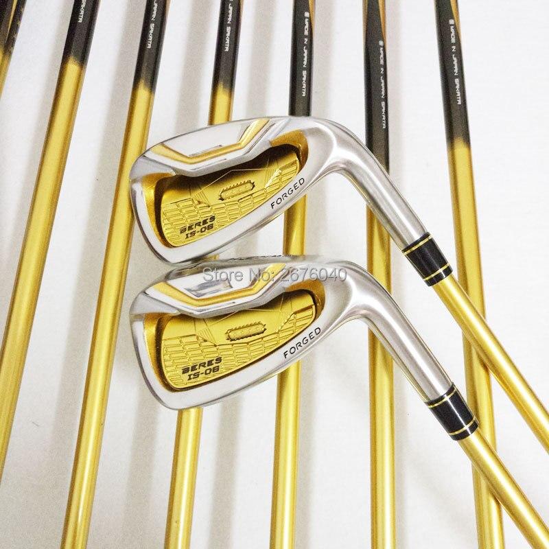 Golf Clubs honma s-06 4 étoiles fers de GOLF clubs set 4-11Sw.Aw Golf club de fer De Golf Graphite arbre R ou S flex Livraison gratuite