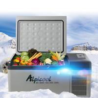 24V 12V Car Refrigerator Freezer Cooler 60x32x32cm 20L Car Fridge Compressor Fridges for Car Home Picnic Refrigeration 20 Deg.C