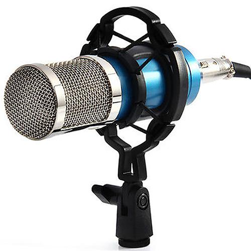<font><b>BM800</b></font> <font><b>Mikrofon</b></font> Condenser Sound Recording BM 800 Microphone With Shock Mount For Radio Braodcasting Singing Recording KTV image