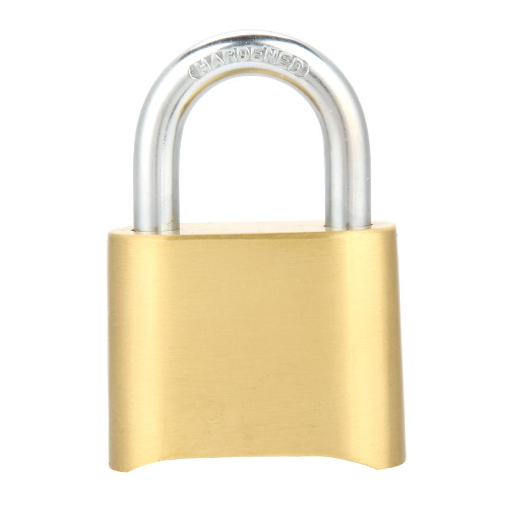 Brass 4 Digit Combination Padlock Password Lock For Door Case Warehouse Cupboard New 2019 High Quality Materials