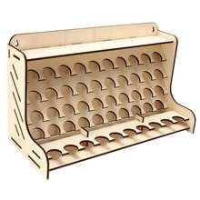 48,5x21x28 см 50 горшков, деревянные пигментные бутылки, органайзер для хранения, цветные краски, подставка, держатель для рисования, аксессуары для хранения