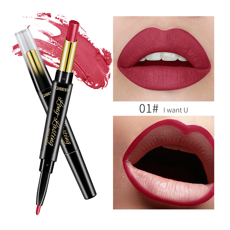 Sale Double Ended Lipliner Pencil Long Lasting Lipstick  Wateproof Matte Professional Cosmetics Nude Makeup Tools